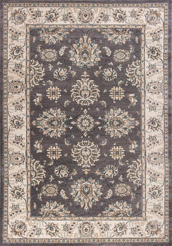 KAS Rugs AVA5608710X710RO Avalon Collection Grey/Ivory Finish