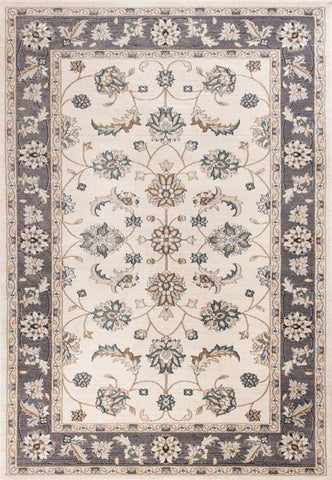 KAS Rugs AVA5612710X710RO Avalon Collection Ivory/Grey Finish