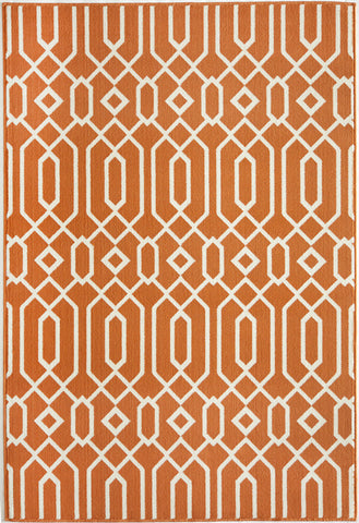 Momeni BAJA0BAJ-3ORG6796 EGYPTIAN MACHINE MADE Baja Collection Orange Finish Rugs