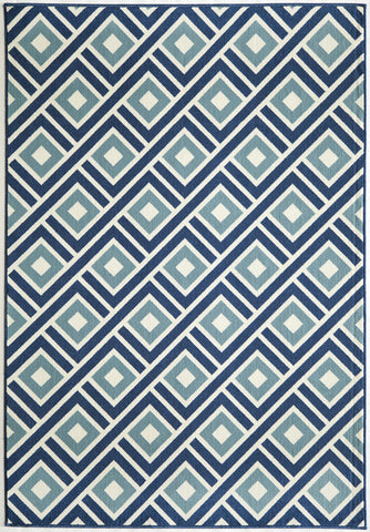 Momeni BAJA0BAJ-7BLU6796 EGYPTIAN MACHINE MADE Baja Collection Blue Finish Rugs