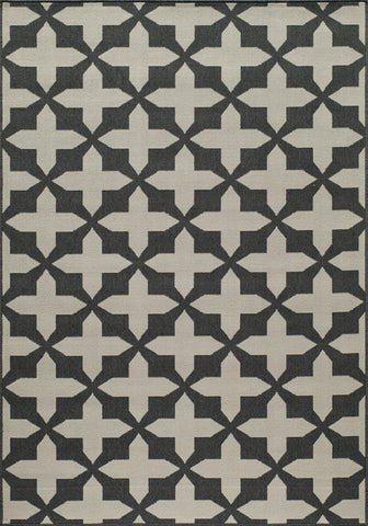 Momeni BAJA0BAJ12CHR7AAA EGYPTIAN MACHINE MADE Baja Collection Charcoal Finish Rugs