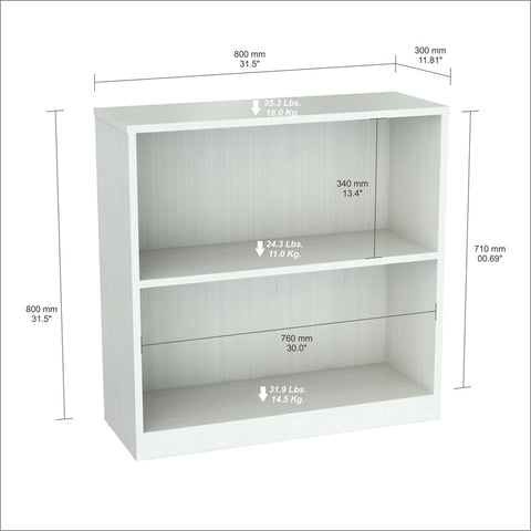 Inval America BE-4104 Laricina-White Finish Bookcase/Hutch - Peazz.com - 1