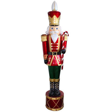 "National Tree BGJN-65LW 65"" Jeweled Nutcracker with Metallic Painting Finish- White LED- Indoor Outdoor Use"
