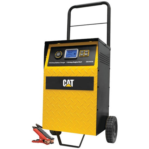 Cat CBC40E 40-Amp Rolling High-Frequency Charger with 110-Amp Engine Start, Alternator Check & Battery Reconditioning - Peazz.com
