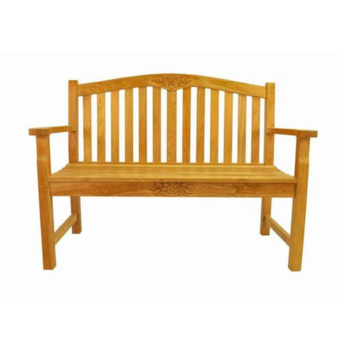 "Anderson Teak BH-050RS 50"" Round Rose Bench - Peazz.com"