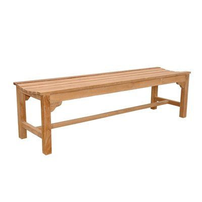 Anderson Teak BH-067B Hampton 3-Seater Backless Bench - Peazz.com