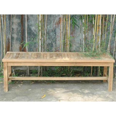 Anderson Teak BH-459B Casablanca 3-Seater Backless Bench - Peazz.com