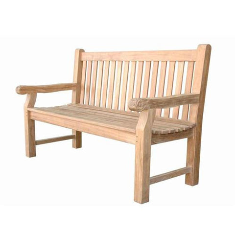 Anderson Teak BH-705SH Devonshire 3-Seater Extra Thick Bench w/ Flower Handcrafted - Peazz.com