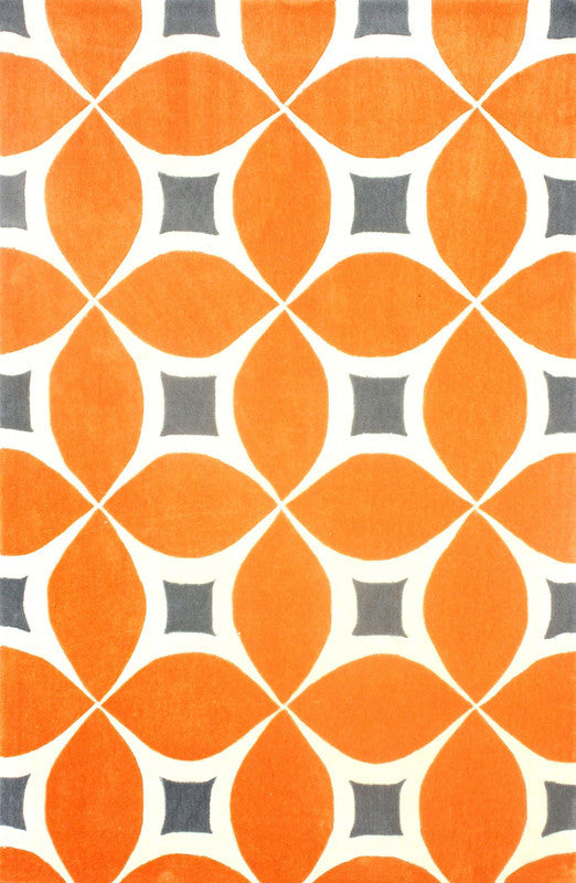 Collection | Tufted | Orange | Finish | Deep | Area | Rug