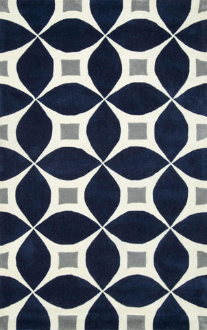 Nuloom BHBC55F-406 Cine Collection Navy Finish Hand Tufted Gabriela Area Rug - Peazz.com