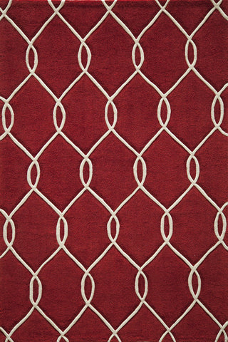 Momeni BLISSBS-12RED5076 Chinese Hand Tufted Bliss Collection Red Finish Rugs