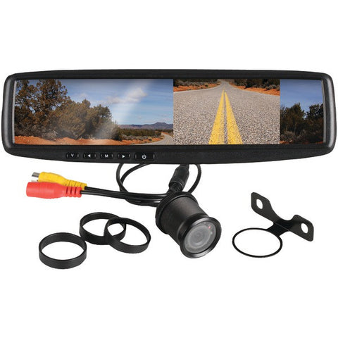 "Boss Audio Systems BV430RVM 4.3"" Rearview Mirror with Monitor & Backup Camera - Peazz.com"