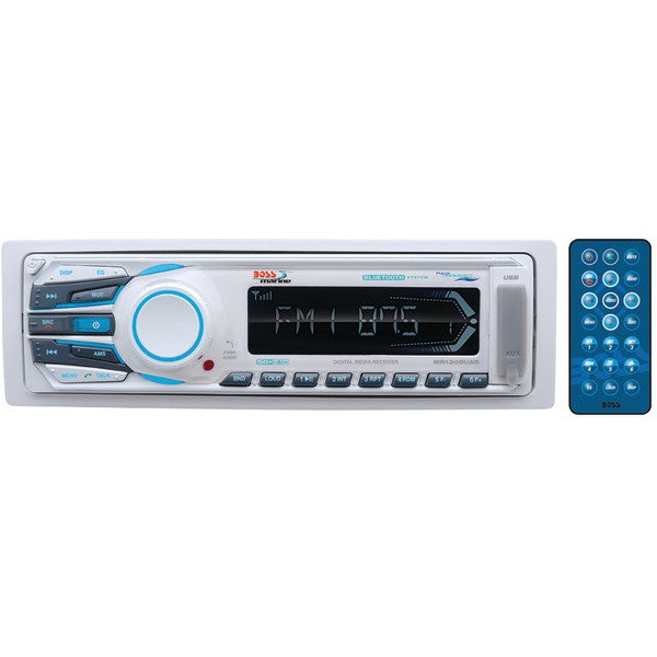 Boss Audio Systems Mr1308uab Marine Single-din In-dash Mechless Am/fm Receiver With Bluetooth (silver)