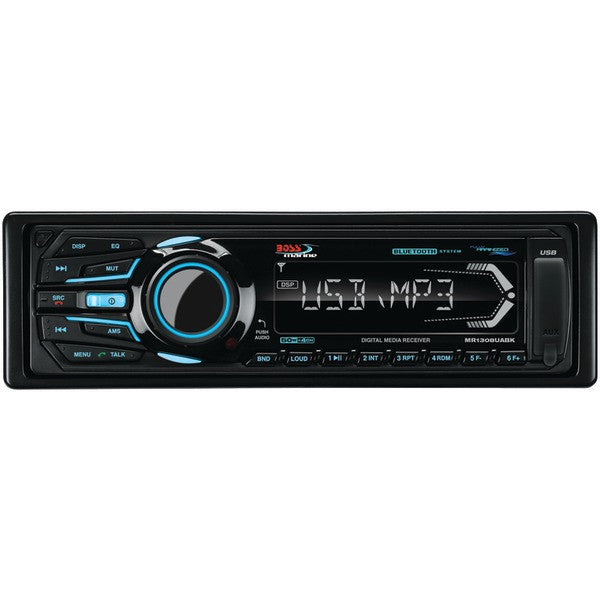 Boss Audio Systems Mr1308uabk Marine Single-din In-dash Mechless Am/fm Receiver With Bluetooth (black)