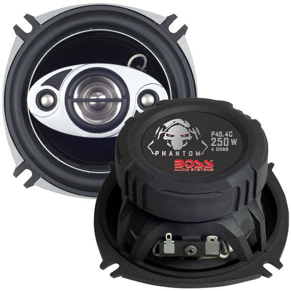 """Boss Audio Systems P45.4C Phantom Series Speakers with Electroplate-Injection Cones (4"""")"""