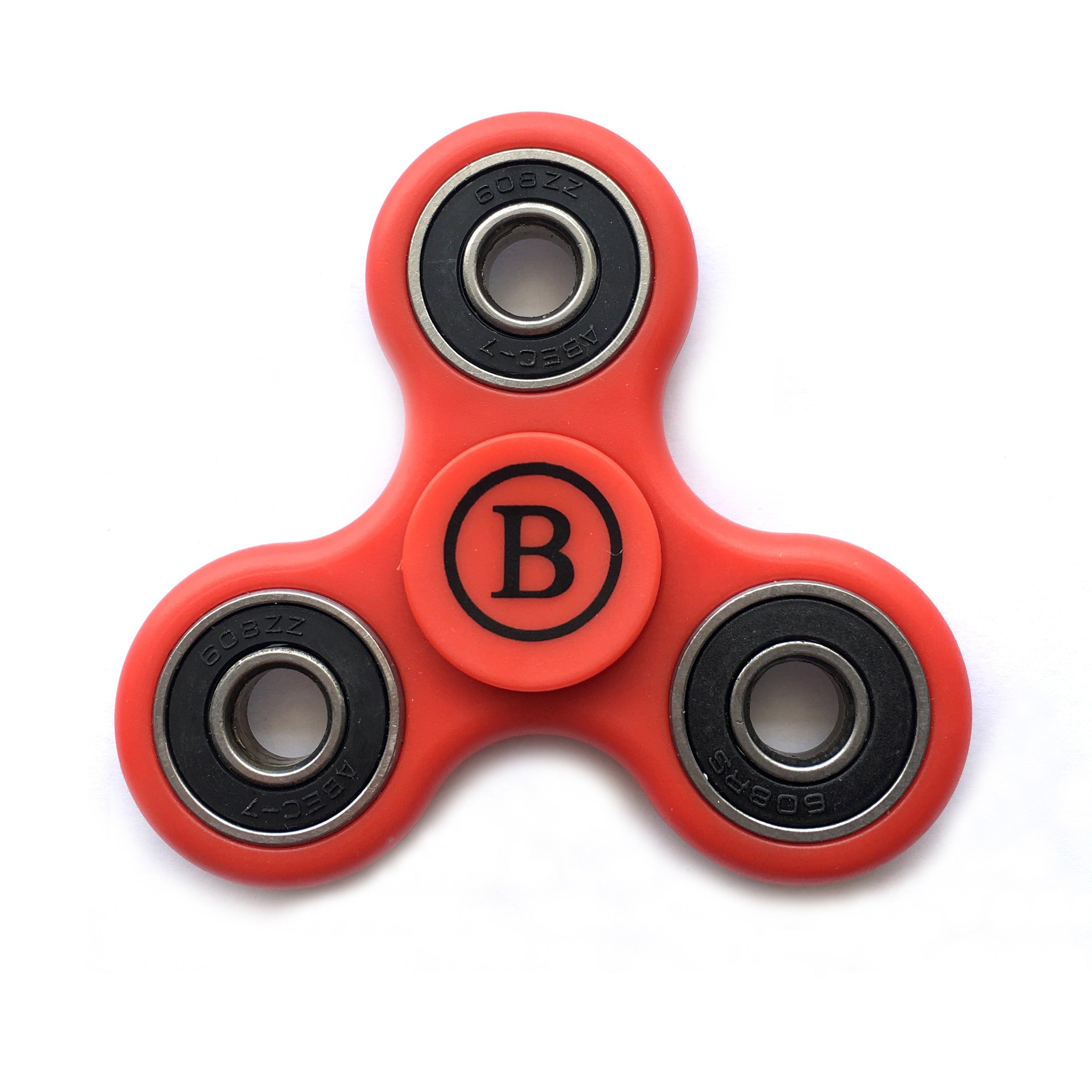 Fidget Hand Spinner High Speed Steel Bearing, Adhd Focus Anxiety Relief Toy - Red