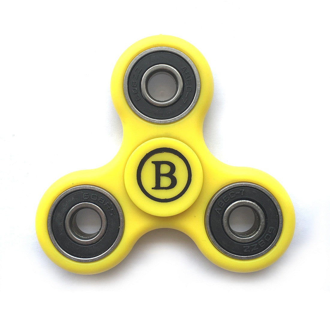 Fidget Hand Spinner High Speed Steel Bearing, Adhd Focus Anxiety Relief Toy - Yellow
