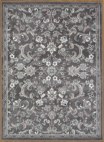Momeni BROOKBH-05GRY3B57 Turkish Machine Made Brooklyn Heights Collection Grey Finish Rugs
