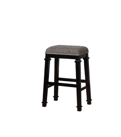 Linon BS094BLK01U Kyley Black And White Tweed Backless Bar Stool