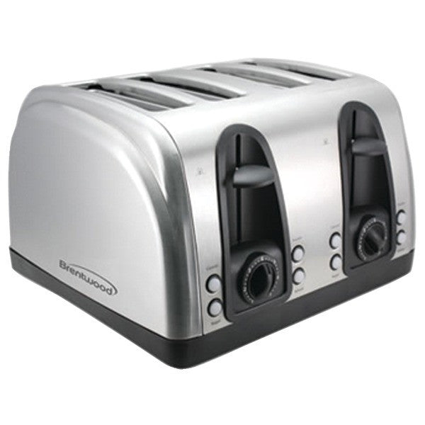 Brentwood Appliances TS-445S 4-Slice Elegant Toaster with Brushed Stainless Steel Finish PTR-BTWTS445S