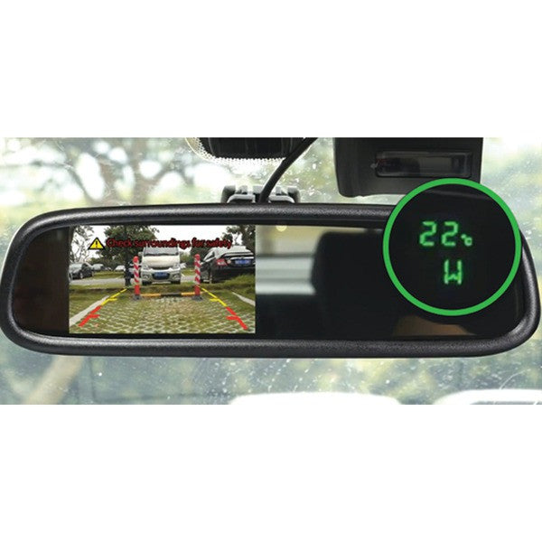 """Boyo Vision Vtm43tc 4.3"""" Oe-style Rearview Mirror Monitor With Temperature & Compass"""