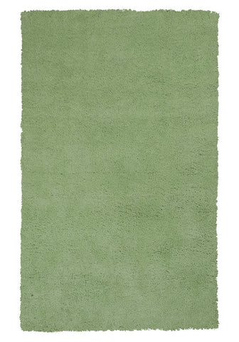 KAS Rugs Bliss 1578 Spearmint Green Shag Hand-Woven & Other 100% Polyester 8' Round