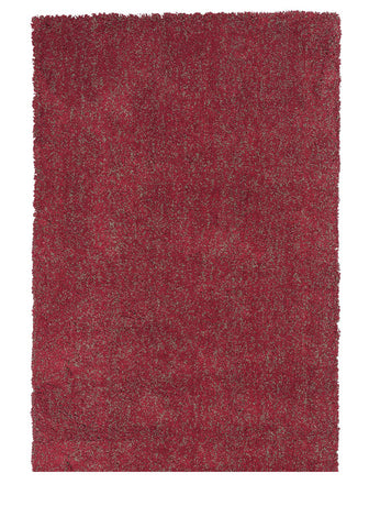 KAS Rugs Bliss 1584 Red Heather Shag Hand-Woven & Other 100% Polyester 8' Round