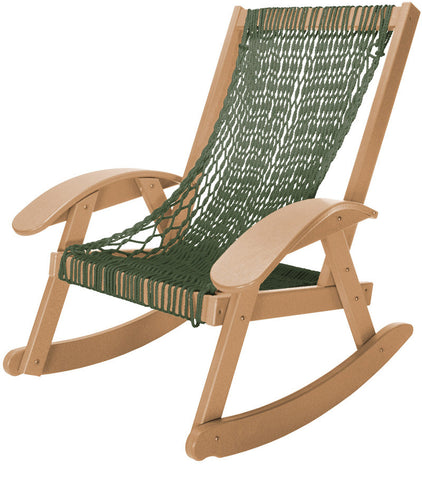Pawleys Island Hammocks CCSRGCD Coastal Duracord Cedar Rocker-Green Rope (W 31.5 x H 36.5 in.) - Peazz.com