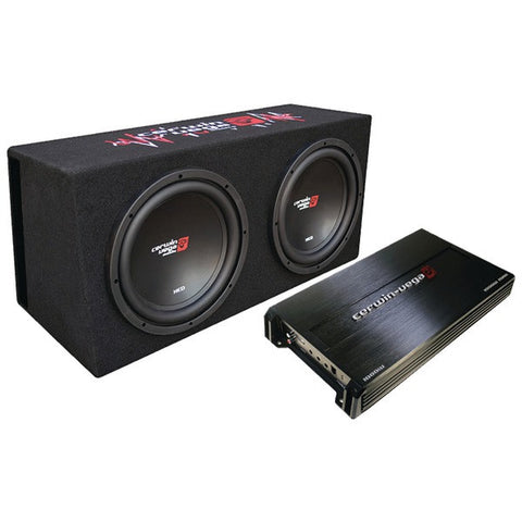 "Cerwin-Vega Mobile BKX212V 12"" Bass Kit System (500W, XED subwoofers, Vented) - Peazz.com"