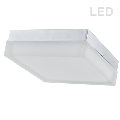 "11"" Square Ceiling Flush, 20W, LED, Satin Nickel"