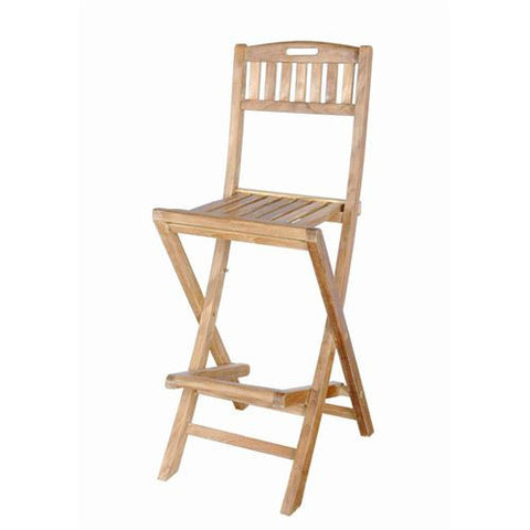 Anderson Teak CHB-010 Altavista Folding Bar Chair - Peazz.com
