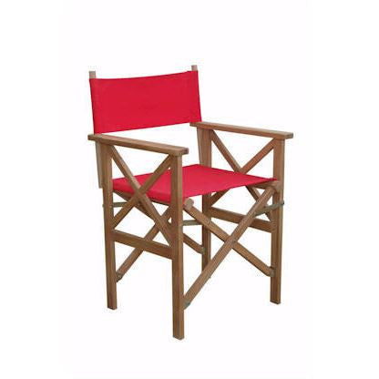 Anderson Teak CHF-2088 Director Folding Armchair w/ Canvas ( sold as a pair) - Peazz.com