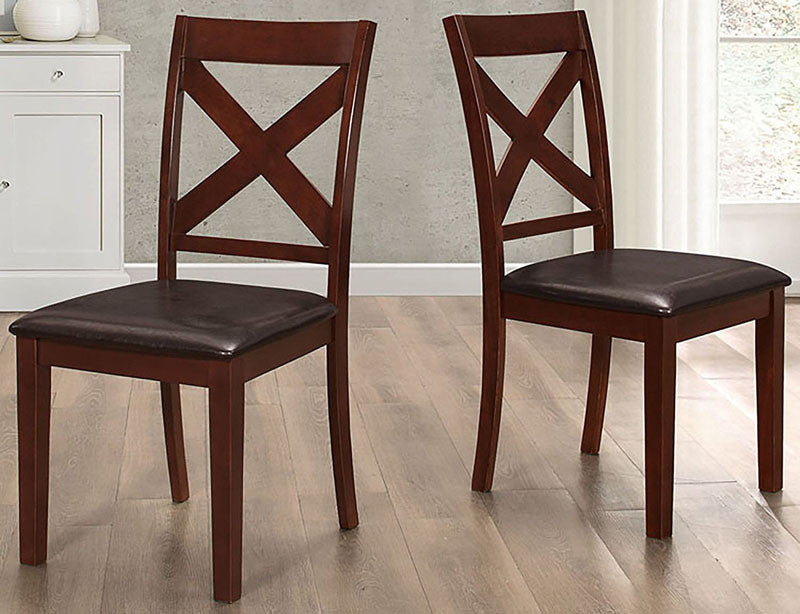 Walker Edison CHW2TRES Solid Wood X-Back Padded Dining ChairsSet of 2 Espresso Finish WAL-CHW2TRES