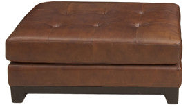 Element Home Furnishing COR-CO-BOUR-1 Corsario Top Grain Leather Cocktail Ottoman in Bourbon - Peazz.com