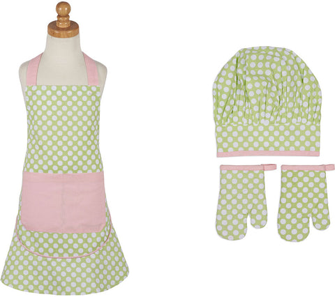 Design Imports COSD35183 Pretty Polka Dot Children's Apron and Chef Gift Set - Peazz.com