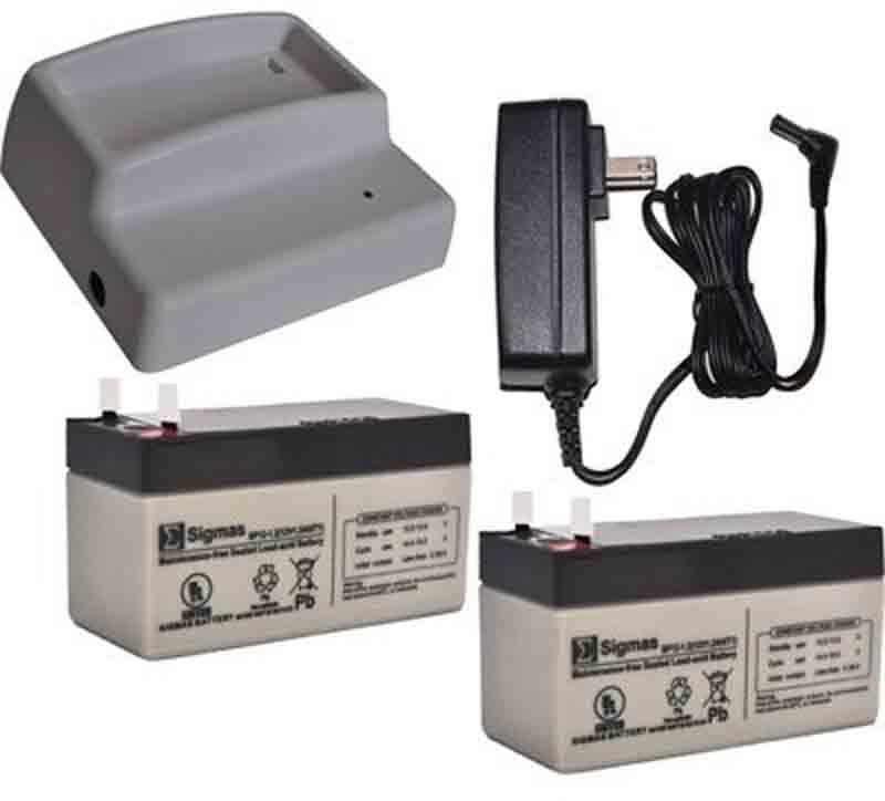 High Tech Pet CRG-12V-2 Charger Kit with 2 Backup Batteries for Power Pet Doors