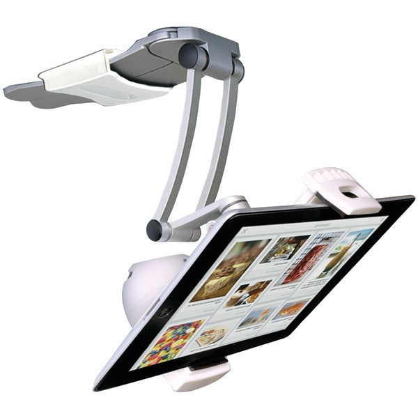CTA Digital PAD-BKMS iPad/Tablet 2-in-1 Kitchen Mount Stand with Bluetooth Speaker