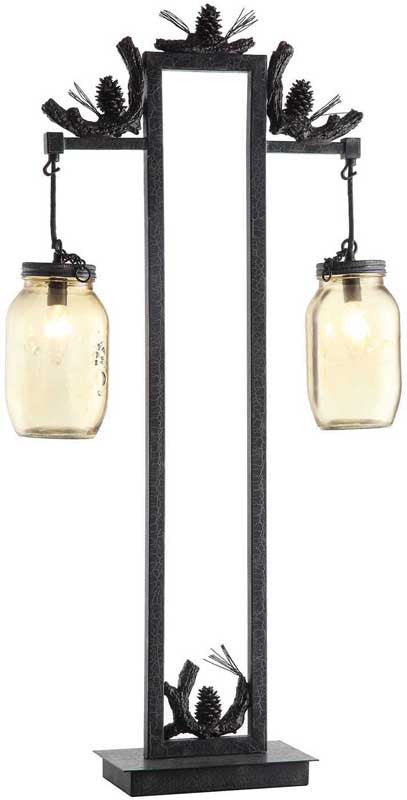 Crestview Collection CVAER741 Fire Catcher Table Lamp 3.5 X 3.5 X 8