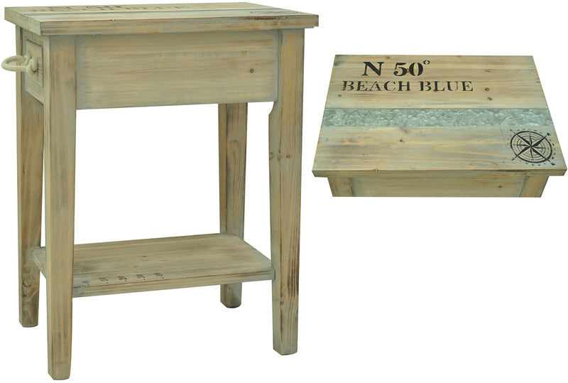 Crestview Collection CVFZR1005 Grand Isle Chairside Table 18.25 X 13 X 23.5