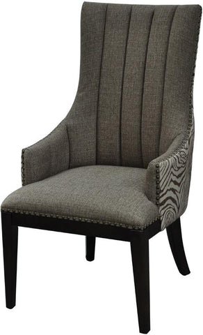 Bayden Hill CVFZR1473 Safari Two Toned Channel Back Chair 23.5 X 27.25 X 41.75 - Peazz.com