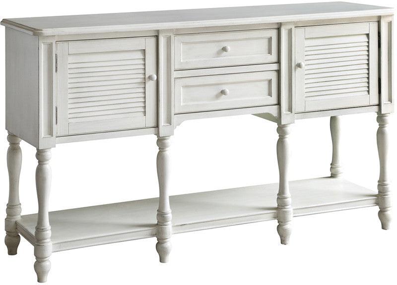 May Cottage White Shutter Console Table H Cape