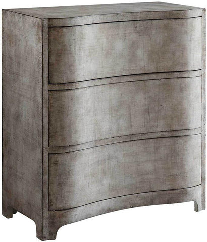 Bayden Hill CVFZR1610 Claremont 3 Curved Drawer Brushed Linen Finish Chest 32.5 X 16 X 36 - Peazz.com