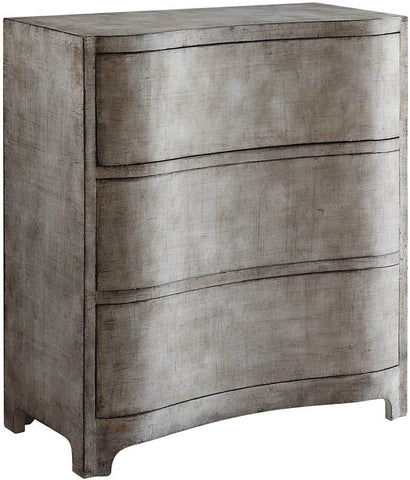 Crestview Collection CVFZR1610 Claremont 3 Curved Drawer Brushed Linen Finish Chest 32.5 X 16 X 36 - Peazz.com