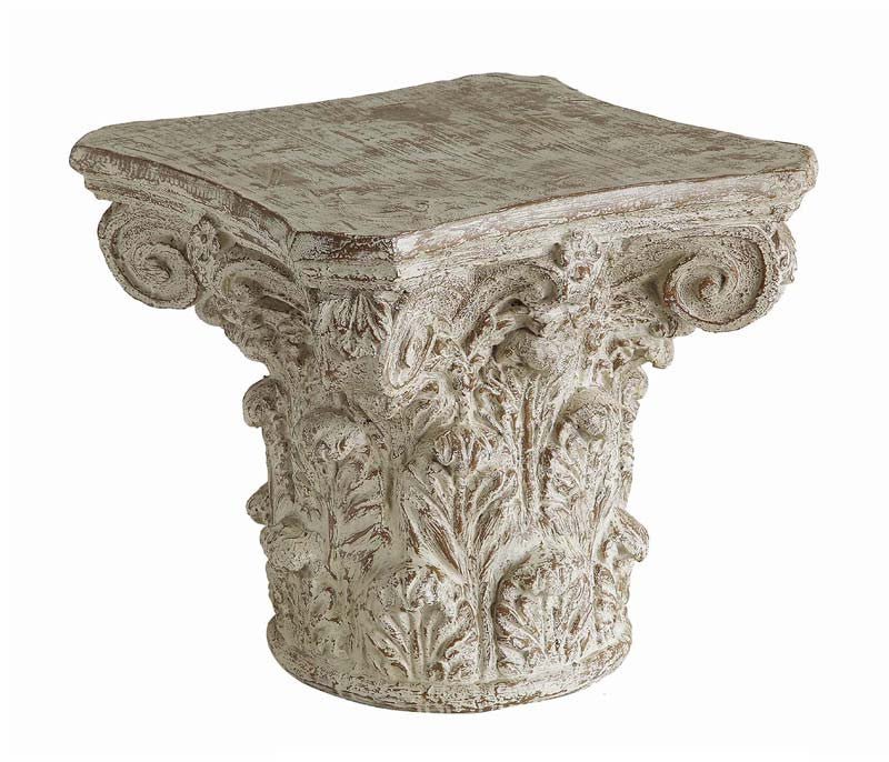 Crestview Collection CVFZR1720 Athena Cast Greek Capital Accent Table 24 X 24 X 22