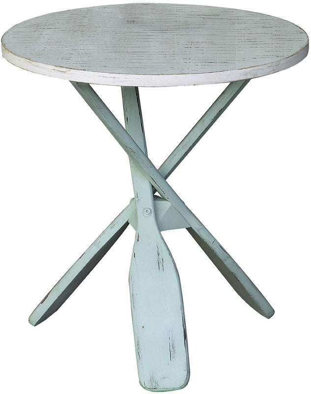 Crestview Collection CVFZR1731 Chesapeake Two Tone Paddles Accent Table 24 X 24 X 26