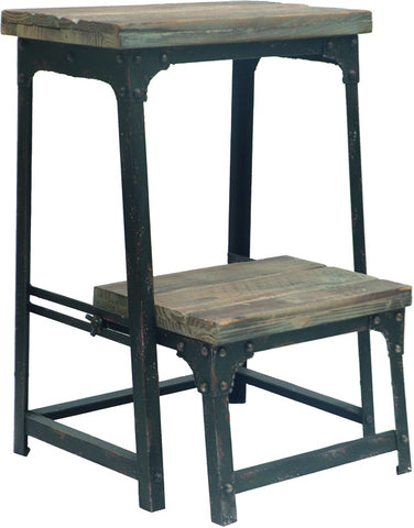 Crestview Collection CVFZR247 Industria Step Stool 15.75W X 15.75D X 21.75Ht. - Peazz.com