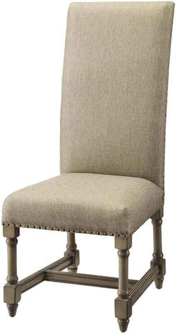 Bayden Hill CVFZR440 Baroque Linen Side Chair 20 X 24.5 X 46 - Peazz.com