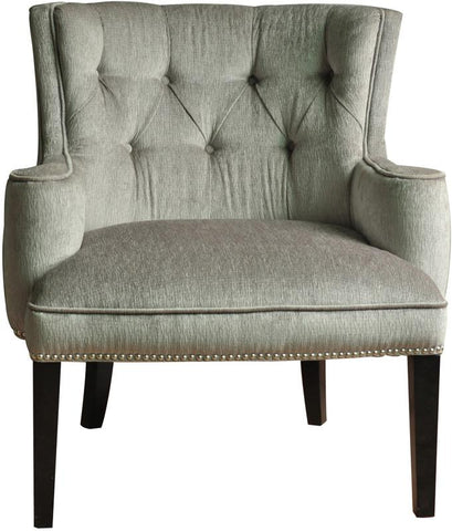 Bayden Hill CVFZR677 Fifth Ave Textured Silver Nailhead Chair 30.25 X 33.5 X 36 - Peazz.com