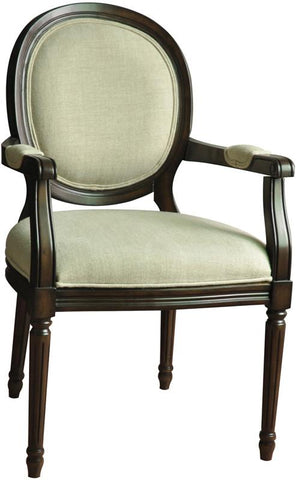 Bayden Hill CVFZR680 Huntington Linen Round Back Accent Chair 24.25 X 26.75 X 39.5 - Peazz.com