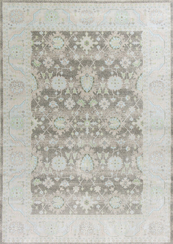 "KAS Rugs Chandler 4903 Charcoal Tabriz Machine-Woven 100% Polypropelene 3'3"" x 4'11"""